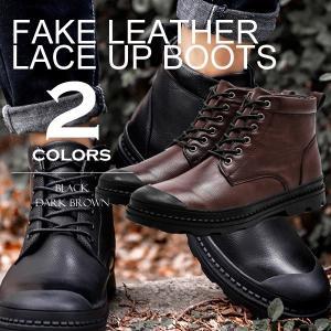 2018年秋冬の新作入荷。革靴で使用される本革を再現した秋冬にオススメのメンズ ワークブーツ。レース...