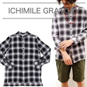 ICHIMILE GRATORY シャツ チェックシャツ メンズ 長袖  比翼 チェック柄 ポケット 2017 秋|sansuiya