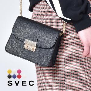 デイリーユースに使いやすいSVEC(シュベック)のミニバッグ。  本革のような高級PU素材を使用。 ...