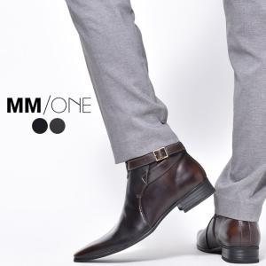 ビジネスブーツ サイドベルトブーツ ブーツ ビジネスシューズ PU革靴 メンズ 靴 紳士靴 ロングノーズ 2018 冬 新春|sansuiya