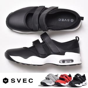 SVEC - シュベック -  ベルクロデザインのエアソールスニーカーサンダル。  通勤・通学や20...