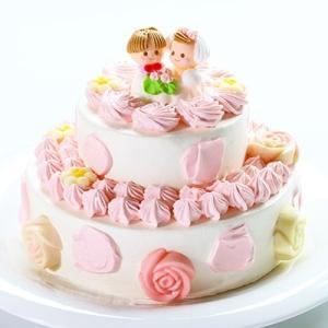 【送料無料】2段デコレーション3号×5号:ホワイトデーのお返しやひな祭り、入園入学のお祝いケーキ