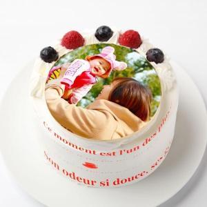 写真ケーキ苺生クリーム4号:送料無料/プリントケーキ/写真入りケーキ/画像ケーキ/誕生日ケーキ/バー...