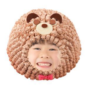 立体動物写真ケーキくま、くまの着ぐるみ写真チョコレートケーキ5号:送料無料