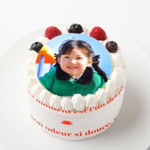 写真ケーキ苺生クリーム3号9センチ1名様分:送料無料/プリントケーキ/画像ケーキ/誕生日ケーキ/バー...