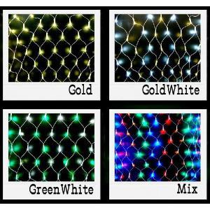 イルミネーション 防滴LEDライト ネット 160球 野外屋外使用可|santasan|05