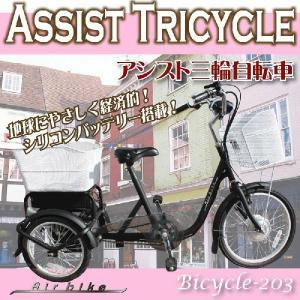 電動自転車 三輪自転車 電動アシスト自転車203 電気自転車 Airbike|santasan