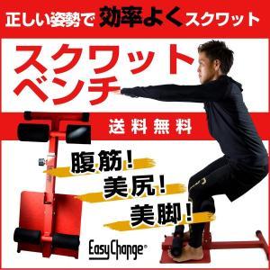スクワットベンチ EasyChange シットアップベンチ ストレッチ トレーニング 筋トレ ダイエット エクササイズ 美脚 美尻 足痩せ|santasan