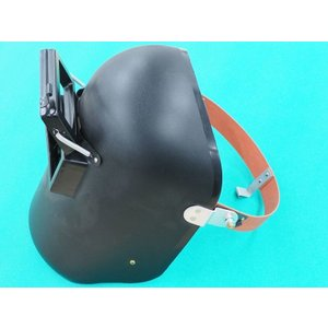 PP.P-1ヘルメットA面 / 溶接用 黒色 引掛式 (#38012)|santec1949