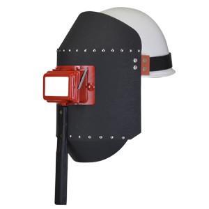 星光製作所 溶接面 丸面C型 開閉式・ゴムベルト付き  (受注生産) / C015 単品 (#38043)|santec1949