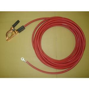 ゴムカバー付赤色アースクリップ線・端子付 / WCT22