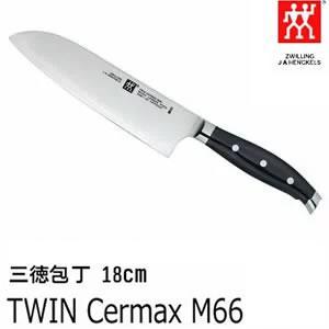 三徳包丁 刃渡り:18cm ツインセルマックス/TWIN Cermax M66  肉・野菜・魚・果物...