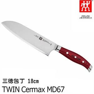 三徳包丁 刃渡り:18cm ツインセルマックス/TWIN Cermax MD67 肉・野菜・魚・果物...