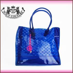 ジューシークチュール Juicy Couture トートバッグラージ クリアカラー ジューシージェリーバッグ(ブルー)YHRUO047|santekjp