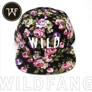 KillBrand キルブランド WILD FLOWERS SNAPBACK 帽子 キャップ 柄 レディース(ブラック×マルチカラー) santekjp