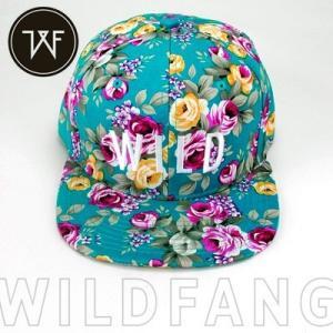 KillBrand キルブランド WILD SUMMER SNAPBACK 帽子 キャップ 柄 レディース(ブルー×フローラル) santekjp