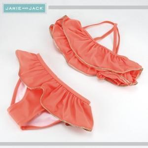 JANIE AND JACK/ジェニーアンドジャック ビキニ水着 フリル キッズ ガールズ 女の子(オレンジ)|santekjp