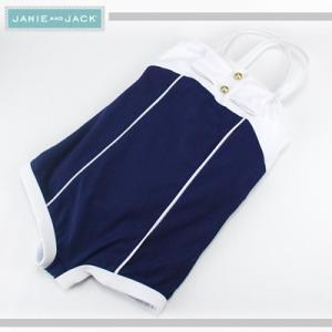 JANIE AND JACK/ジェニーアンドジャック スイムウェア 水着 リボンバイカラー キッズ ガールズ 女の子(ブルー×ホワイト)|santekjp
