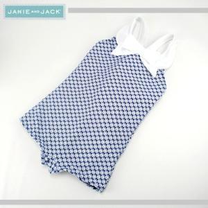 JANIE AND JACK/ジェニーアンドジャック スイムウェア 水着 ヨット柄 キッズ ガールズ 女の子(ブルー×ホワイト)|santekjp