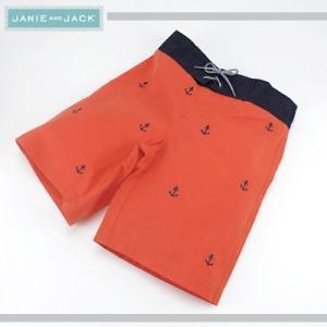 JANIE AND JACK/ジェニーアンドジャック スイムパンツ 海パン 水着 イカリ刺繍 キッズボーイズ 男の子(オレンジ)|santekjp
