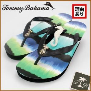 トミーバハマ/Tommy Bahama レディース ヒールビーチサンダル イカットストライプ(ミックスカラー)※訳あり(22.0〜22.5cm) セール SALE|santekjp