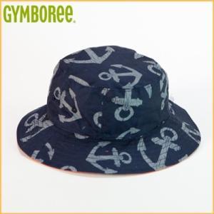 (DM便OK)ジンボリー/GYMBOREE イカリ模様 リバーシブル帽子 キッズボーイズ 男の子(ネイビー)|santekjp