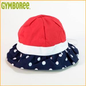(DM便OK)ジンボリー/GYMBOREE トリコロール 水玉帽子 キッズガール 女の子(レッド×ホワイト×ネイビー)|santekjp