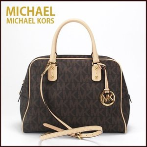 マイケルコース/MICHAEL KORS ハンドバッグ ショルダーバッグ lgsatchel brown ns(ブラウン)35f1gmks3bbr|santekjp