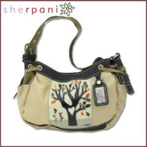 sherpani/シェルパニ  ショルダーバッグ ハンドバッグ フォーリングツリーモチーフ(カーキ×ベージュ)|santekjp