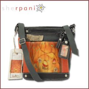 sherpani/シェルパニ  ショルダーバッグ アウトドアポシェット ウィロー シンギングバードモチーフ (カーキ×オレンジ)|santekjp
