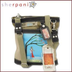 sherpani/シェルパニ  ショルダーバッグ アウトドアポシェット ルナ ネバーレットゴー バッグ(カーキ×ベージュ)|santekjp