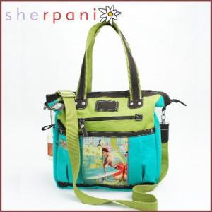 sherpani/シェルパニ  トートバッグ アウトドア ノラ サーファーガール トート(ライトブルー×ライトグリーン)|santekjp