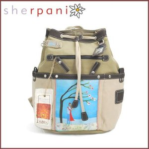 sherpani/シェルパニ  リュックサック バックパック ネバー レットゴー バッグ(カーキ×ベージュ)|santekjp