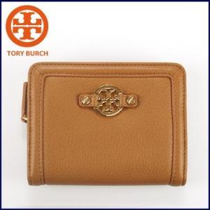 トリーバーチ Tory Burch オールカーフ 二つ折り財布 AMANDA SHRUNKEN SLIM CONTINENTAL (ロイヤルタン)32139035 santekjp