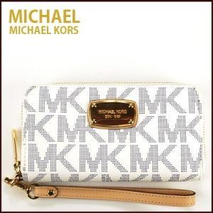 マイケルコース/MICHAEL KORS iPhoneケース スマホケース リストレット ELECTRONICS LG MLT FUNT PHN CASE(ネイビー×ホワイト)|santekjp