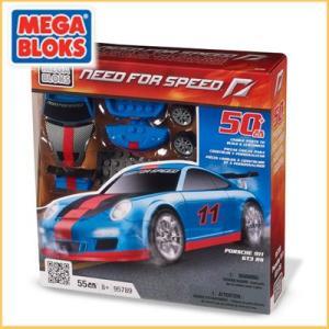 メガブロック/MEGABLOKS 95789 ニードフォースピードシリーズ Need For Speed ポルシェ 911 GT3 RS ブルー santekjp