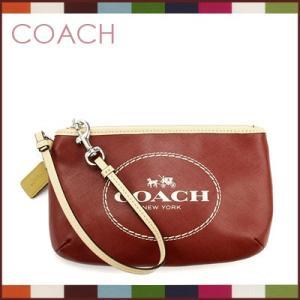 コーチ coach ポーチ セカンドバッグ ホース&キャリッジ レザー ミディアムリストレット(クリムゾン)f51788svcm|santekjp
