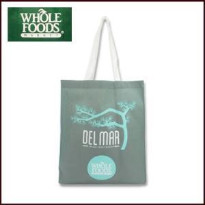 (DM便不可)ホールフーズマーケット/WHOLE HOODS エコバッグ エコロジーバッグ 買物バッグハワイアン柄 DEL MAR(グレー)|santekjp