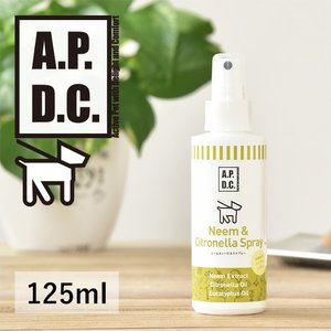 APDC ニーム&シトロネラスプレー 125ml 犬用 (APDC ニーム シトロネラ スプレー 犬 ペット 日焼け止め 日焼け 予防 防止 植物成分 apdc リニューアル)|santelabo