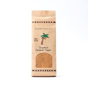 ブラウンシュガーファースト 有機ココナッツシュガー スタンドパック 340g オーガニック食品 砂糖|santelabo