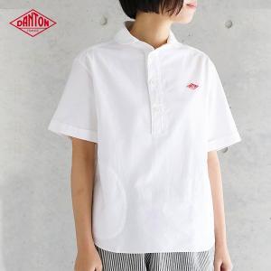 DANTON ダントン 半袖丸襟ポケット付プルオーバーシャツ #JD-3565YOX・COC (半袖シャツ 春 夏 かぶりシャツ)(2018SS)|santelabo