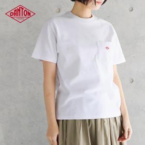 DANTON ダントン 半袖ポケット付 Tシャツ #JD-9041 レディース カットソー コットン 綿 (2018SS)|santelabo