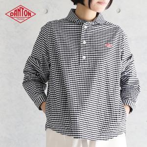 長袖丸襟ポケット付ダントンプルオーバーシャツ #JD-3564TRD ギンガム ストライプ (2018SS)|santelabo