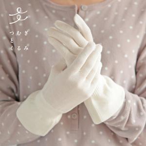 ハンドケア保湿手袋 (手荒れ あかぎれ ひび割れ 乾燥肌 乾燥 保湿 潤い しっとり シルク 手袋 ハンドクリーム 保湿ケア ハンドケア おやすみ手袋)|santelabo