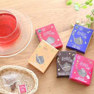 English Tea Shop オーガニックティー 1袋入りミニペーパーボックス |イングリッシュティーショップ ギフト 紅茶 ハーブティー  オーガニック認証 ティーバッグ|santelabo
