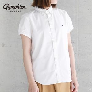 ジムフレックス 半袖ボタンダウンシャツ オックスフォード #J-0645 YOX (レディース シャツ gymphlex 2017SS)|santelabo