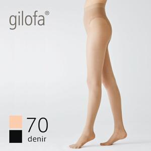 ギロファ ストッキング 70D シースルー ファイン パンスト ライト 70D (GILOFA ギロファ ストッキング レディース メンズ 男女兼用 着圧 医療用)|santelabo