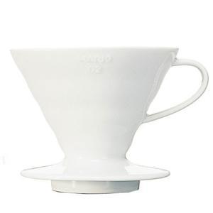 ハリオ V60 透過ドリッパー02 セラミックW VDC-02W (コーヒー 珈琲 おうちカフェ コーヒーサーバー ハンドドリップ ハンドドリッパー HARIO)|santelabo