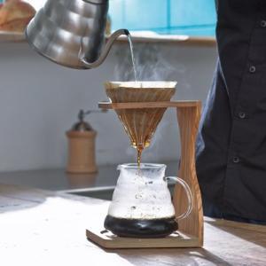 ハリオ V60 オリーブウッドスタンドセット VSS-1206-OV (コーヒー 珈琲 おうちカフェ コーヒー ペーパードリップ ハンドドリップ HARIO 1〜4杯用)|santelabo