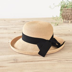 石田製帽 ラフィア555 セーラーハット(セーラー大 C01-002 DAY STROWS レディース uv つば広 帽子 深め リボン ラフィア 麦わら帽子 2015SS)|santelabo
